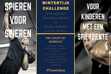 Yamato Gym Spieren voor Spieren Wintertijd Challenge